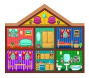 Дом в отрезке иллюстрация штока