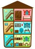 Дом в отрезке иллюстрация вектора