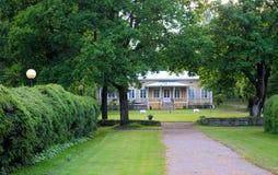 Дом в парке. Стоковое Изображение RF