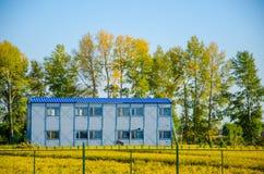 Дом в поле риса Стоковое Изображение RF