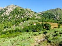 Дом в причаливать в горах Cevennes, Франции Стоковая Фотография