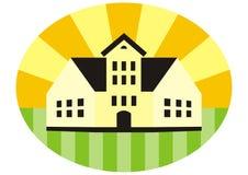 Дом в рамке Стоковое Изображение RF