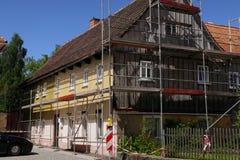 Дом в реновации стоковые изображения rf