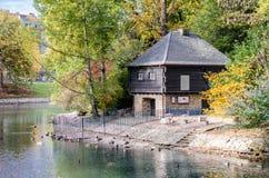 Дом в саде Стоковое Фото