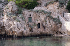 Дом в старом порте Kolorina, Дубровнике Стоковые Изображения