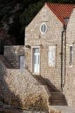 Дом в старом порте Kolorina, Дубровнике Стоковое Изображение