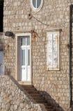 Дом в старом порте Kolorina, Дубровнике Стоковая Фотография