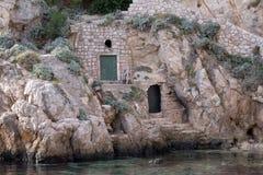 Дом в старом порте Kolorina, Дубровнике Стоковое Фото