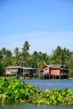 Дом в тайском типе, Таиланд портового района Стоковое фото RF