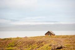 Дом в фьорде Стоковые Фото
