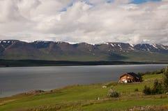 Дом в фьорде Стоковые Изображения RF