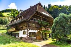 Дом в черном лесе стоковые изображения rf