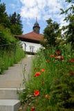 Дом в швейцарце Альпах Стоковые Изображения