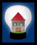 Дом в электрической лампочке Стоковые Фотографии RF