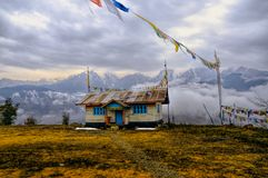 Дом в Arunachal Pradesh Стоковое Изображение RF
