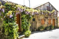 Дом в Combarro, Галиции, Испании Стоковое Изображение RF