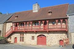 Дом в Fougeres, Франции Стоковое фото RF