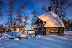 Дом в Kiruna, Швеции стоковая фотография rf
