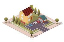 Дом & гараж вектора равновеликие стоковое фото rf