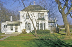 Дом генерала Дуайта d Eisenhower, Абилин, Канзас Стоковые Фотографии RF