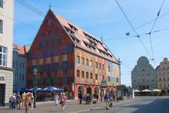 Дом города Аугсбурга Стоковое фото RF