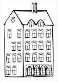 Дом год сбора винограда вектора изолированный на белизне Стоковое Изображение