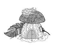 Дом гриба, черепашка Стоковое Изображение