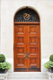 дом двери передняя к Стоковая Фотография