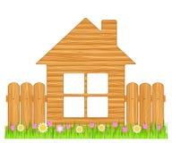 дом деревянная иллюстрация штока