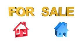 Дом, для продажи, анимация бесплатная иллюстрация
