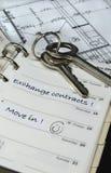 дом дневника пользуется ключом планы Стоковое Фото