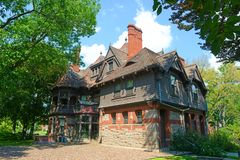 Дом дня Katharine Seymour, Hartford, CT, США стоковая фотография
