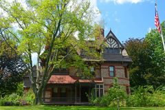 Дом дня Katharine Seymour, Hartford, CT, США стоковые изображения