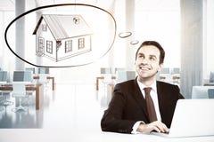 дом доллара принципиальной схемы 100 счетов сделала ипотеку вне Стоковая Фотография RF