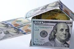 Дом 100 долларов Стоковые Фотографии RF