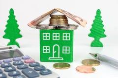 Дом евро зеленый Стоковое Изображение RF