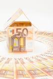 дом евро кредиток Стоковые Изображения RF