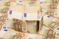 дом евро 50 сделала малой Стоковая Фотография