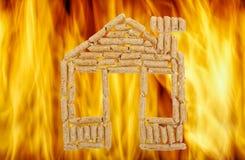 Дом деревянных лепешек Стоковая Фотография