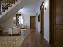 Дом живущей комнаты при закрытых дверях Стоковое фото RF