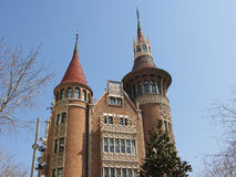 Дом замока в Барселона Стоковое Изображение RF