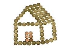 дом заработала деньги Стоковое Изображение