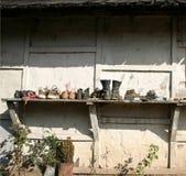 дом засыхания вне села ботинок Стоковые Фото