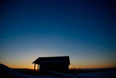 Дом захода солнца Стоковая Фотография RF