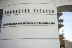 Дом здания где рожденный центр Пабло Пикассо исторический Mala Стоковые Изображения RF