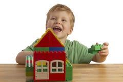 дом здания мальчика Стоковое Изображение RF