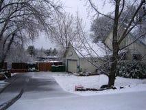 Дом зимы стоковое изображение