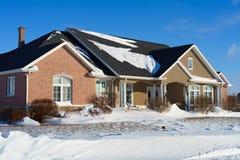 Дом зимы Стоковое фото RF