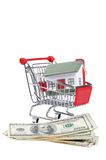 Дом игрушки для кредиток доллара стоковое фото rf