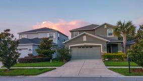 Дом и облако Флориды Стоковая Фотография RF